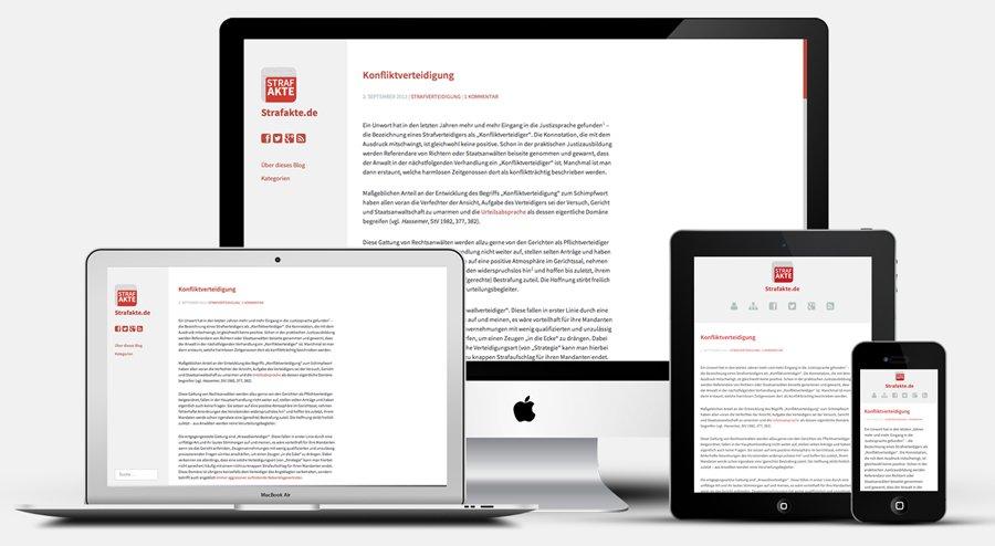Strafakte.de Relaunch 2013 New Responsive Blog Design Smartphone Tablet iPad iPhone