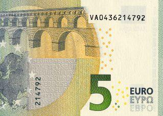 Banknoten, Fingerabdruck, Fingerabdrücke, Euro-Schein, fünf, zehn, Euro, Lackierung, 2014, neu
