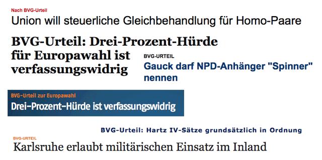 BVG, BVerfG, Bundesverfassungsgericht