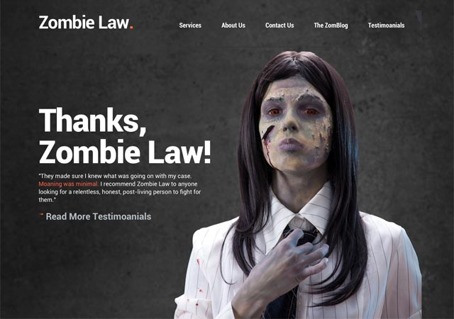 Zombie Law, Zombie, USA, Halloween, Law Firm, Clown