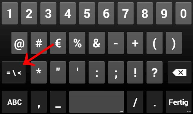 §, Paragrafen, Paragraph, Paragraphenzeichen, Android, Smartphone, Tastatur