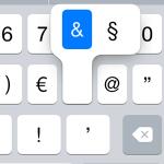 Paragrafen, Paragraf, Paragrafenzeichen, iPhone, iPad, iOS, Smartphone, schreiben, tastatur