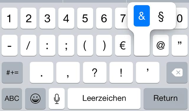 Paragraphenzeichen Android