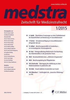 Medstra, Medizinstrafrecht, Arztstrafrecht, Zeitschrift, Fachzeitschrift, Medizin-Wirtschaftsstrafrecht