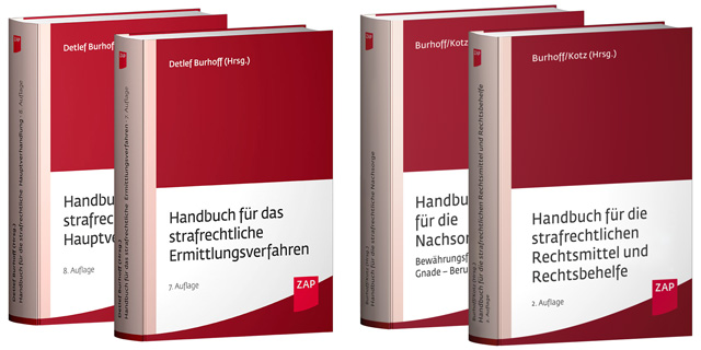 Burhoff, Handbuch, strafrechtliche, Hauptverhandlung, Ermittlungsverfahren, Rechtsmittel, Rechtsbehelfe, Nachsorge, ZAP, Verlag, Rezension, Detlef Burhoff
